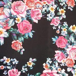 Tergal Flores sobre azul Marino
