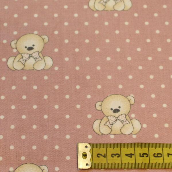 Tela Viella osos rosa
