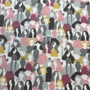 Algodón Estampado Figuras Mujeres
