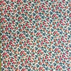 Algodón Estampado Flores Rosas
