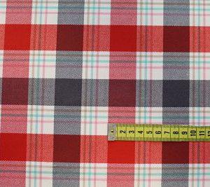 Cuadro Escocés rojo, gris y crudo