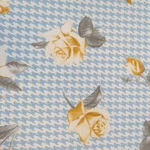 Viella Estampada Sheperd Azul y Rosa Amarilla