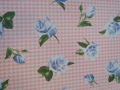 Viella Estampada Sheperd y Rosa Azul