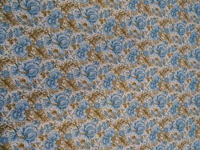 Viella Estampado Floral Azul y Beige