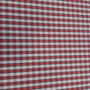 Popelín de Camisas Cuadro Rojo-Negro
