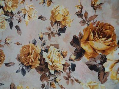 Tergal rosas tonos amarillos