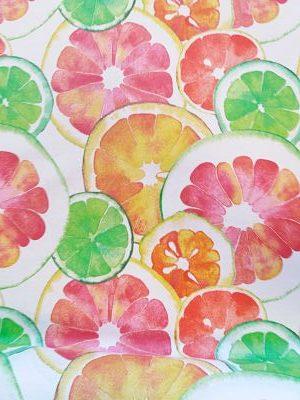 Mantelería-Resinada Estampado Naranjas