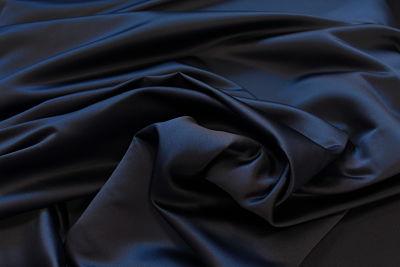 tela Raso de Novia Azul Marino
