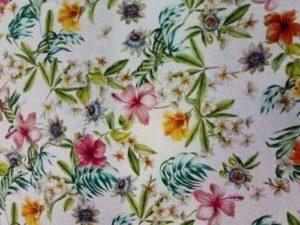 Algodón Estampado Floral Narcisos