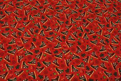 Patchwork Navidad Patines sobre Rojo