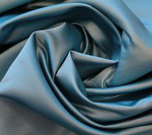 tela Raso de Novia Azul Medio
