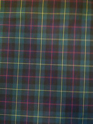 Cuadro Escocés Colorido Verde Marino Rosa