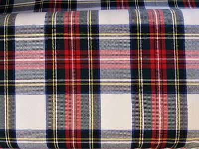Cuadro Escocés Colorido Rojo-Amarillo-Blanco