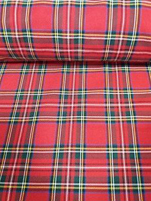 Tela escocesa color rojo, amarillo y azul