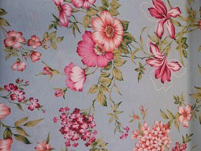 Loneta Flores Rosas sobre Aguamar