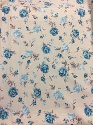 Viella Estampada Floral Rosas Azul en Beige