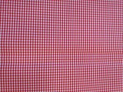 Vichy Cuadros 3mm Rojo