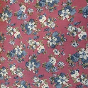Viella Estampada de Flores sobre Granate