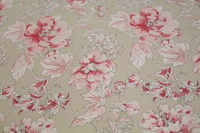 Viella Estamapada Flores Rosas sobre Gris
