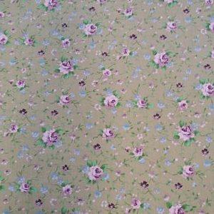 Viella Estampada Floral Rosa sobre Cámel