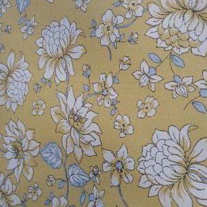 Algodón Estampado_Floral_Mostaza_Gris