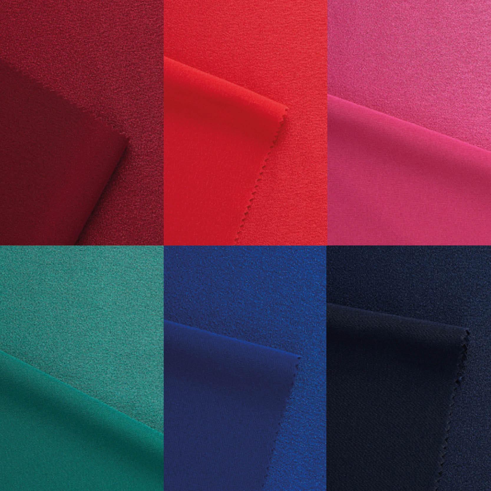 Crepe tejido satén en varios colores