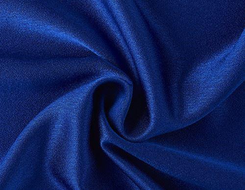 Crepe Satén en Azul Tinta