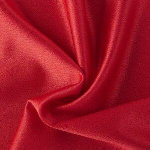 Crepe Satén en Rojo