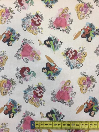 Tela algodón Princesas Disney