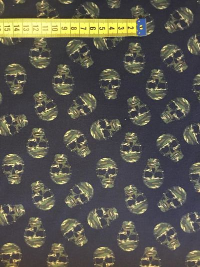 tela calaveras de algodón