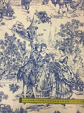 Toile de Jouy azul de prusia