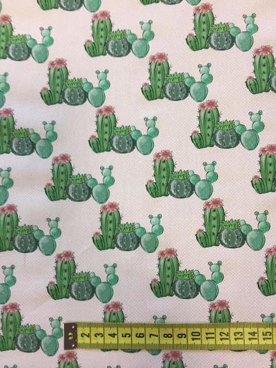 Tela algodón estampado cactus