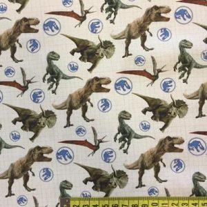 Tela algodón dinosurios