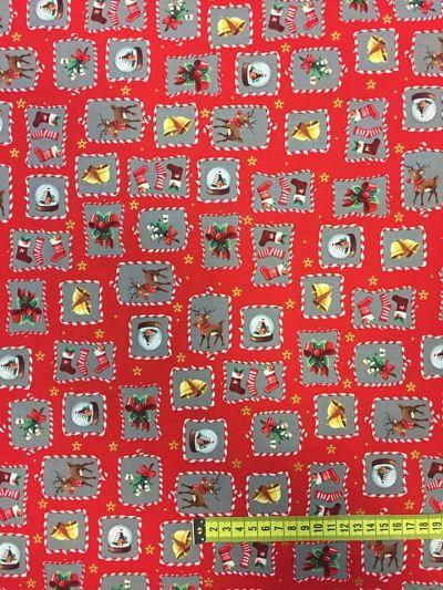 Tela algodón estampado Navidad campañillas