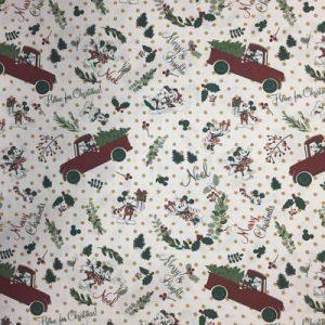 Tela algodón estampado Navidad Disney