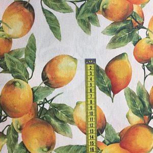 Loneta estampación digital limonero