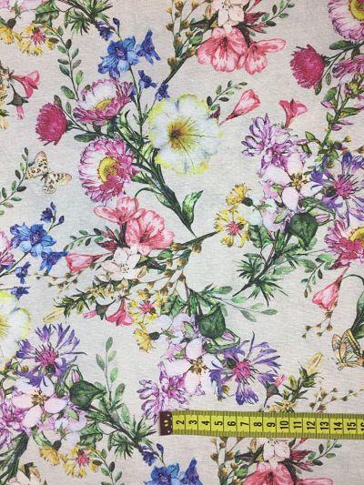 Lonetas Flores rosa azul