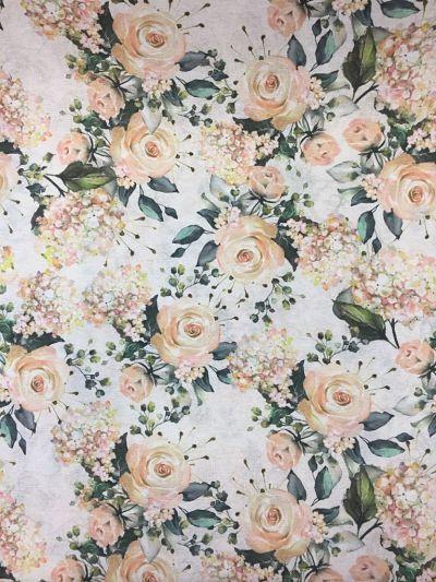 loneta de rosas