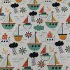 Tela Barcos algodón