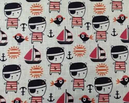 tela algodón piratas