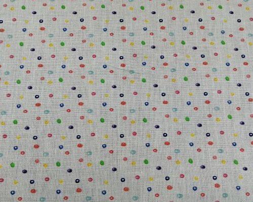 tela algodón puntos colorido