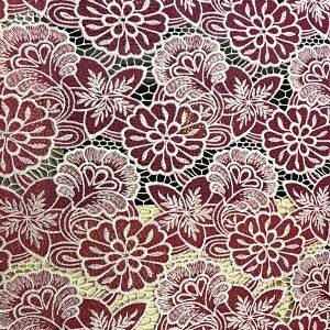 Guipur flores en rosa