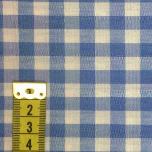 Vichy celeste cuadro 8mm