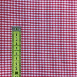 Vichy Rojo y blanco cuadros 3mm